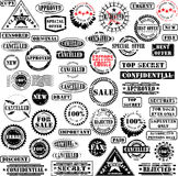 Rubber stamps collection. Collection of grunge rubber stamps. See other rubber stamp collections in my portfolio Royalty Free Stock Photography