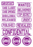 Rubber Stamps for Documents Stock Images