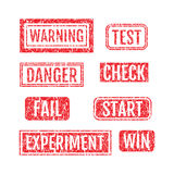 Rubber Stamps Grunge Style Set. With Dust Scratches Set vector illustration