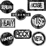 Rubber stamps with musical concept Stock Photo