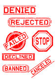 Rubber Stamps for Negative Feedback Royalty Free Stock Photography