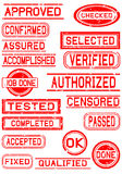 Rubber Stamps for Positive Feedback Royalty Free Stock Image