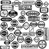 Rubber stamps with sale messages Stock Images