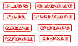 Rubber Stamps Stock Photography