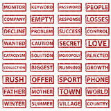 Rubber stamps set Stock Images