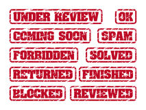 Rubber stamps Royalty Free Stock Image