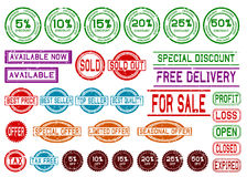 Rubber Stamps for Shopping Mall Stock Photo