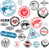Rubber stamps Swine Flu grunge Royalty Free Stock Image