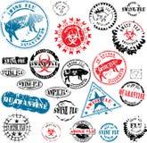 Rubber stamps Swine Flu grunge Royalty Free Stock Image