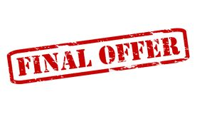 Final offer. Rubber stamps with text final offer inside,  illustration Royalty Free Stock Photo