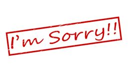 I am sorry. Rubber stamps with text i am sorry inside,  illustration Stock Photos