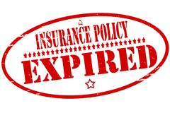 Insurance policy expired. Rubber stamps with text insurance policy expired inside,  illustration Stock Photo