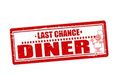 Last chance diner. Rubber stamps with text last chance diner inside,  illustration Stock Photos
