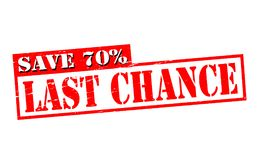Last chance. Rubber stamps with text last chance inside,  illustration Royalty Free Stock Images