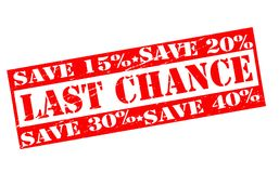 Last chance. Rubber stamps with text last chance inside,  illustration Stock Image