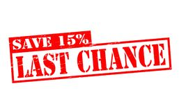 Last chance. Rubber stamps with text last chance inside,  illustration Royalty Free Stock Photo
