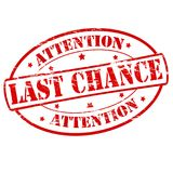 Last chance. Rubber stamps with text last chance inside,  illustration Stock Images