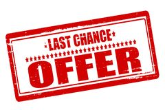 Last chance offer. Rubber stamps with text last chance offer inside,  illustration Royalty Free Stock Photos