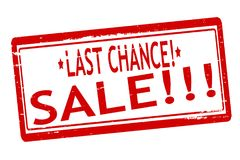 Last chance sale. Rubber stamps with text last chance sale inside,  illustration Royalty Free Stock Images
