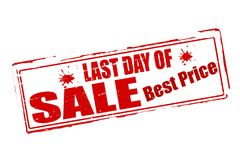 Last day sale. Rubber stamps with text last day sale inside,  illustration Stock Images