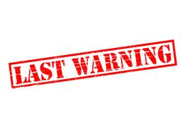 Last warning. Rubber stamps with text last warning inside,  illustration Stock Photo