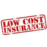 Low cost Insurance. Rubber stamps with text low cost Insurance inside, illustration royalty free stock images