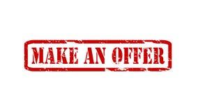 Make an offer Stock Photo