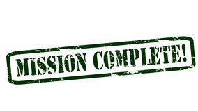 Mission complete. Rubber stamps with text mission complete inside,  illustration Royalty Free Stock Image