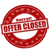 Offer closed. Rubber stamps with text offer closed inside,  illustration Stock Images