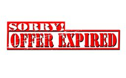 Offer expired. Rubber stamps with text offer expired inside,  illustration Stock Photos