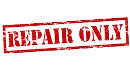 Repair only. Rubber stamps with text repair only inside,  illustration Royalty Free Stock Photos