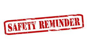 Safety reminder. Rubber stamps with text safety reminder inside,  illustration Stock Photos