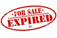 For sale expired. Rubber stamps with text for sale expired inside,  illustration Royalty Free Stock Photography
