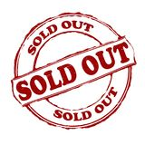 Sold out. Rubber stamps with text sold out inside,  illustration Stock Photos