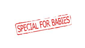 Special for babies. Rubber stamps with text special for babies inside,  illustration Royalty Free Stock Photography