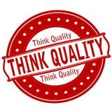 Think quality. Rubber stamps with text think quality inside,  illustration Stock Photography