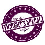 Tonight special. Rubber stamps with text tonight special inside,  illustration Royalty Free Stock Images
