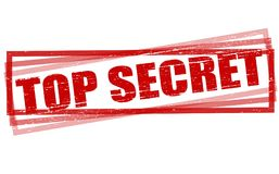 Top secret. Rubber stamps with text top secret inside,  illustration Royalty Free Stock Photo