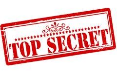 Top secret. Rubber stamps with text top secret inside,  illustration Stock Images