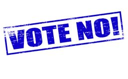 Vote no. Rubber stamps with text vote no inside,  illustration Stock Photos