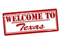 Welcome to Texas. Rubber stamps with text welcome to Texas inside,  illustration Stock Image