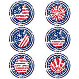 Rubber stamps with USA flag Stock Photos