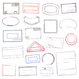 Rubber Stamps.  Vector Illustration Stock Photography