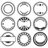 Rubber stamps. Vector set of empty rubber stamps with space for text Stock Photo