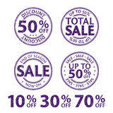 Rubber Stamps Vector set Royalty Free Stock Image