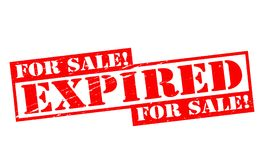 Expired. Rubber stamps with word expired inside,  illustration Royalty Free Stock Images