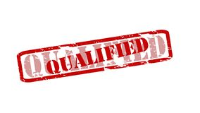 Qualified. Rubber stamps with word qualified inside,  illustration Stock Photo