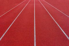 Rubber standard of athletics stadium running track royalty free stock images