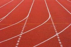 Rubber standard of athletics stadium running track royalty free stock photo