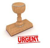Rubber Stapm - Urgent Stock Images